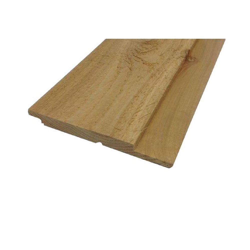 1 In X 8 In X 8 Ft Knotty Cedar Channel Siding Board 728013 The Home Depot