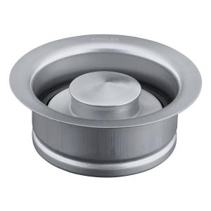 Disposal 4.5 in. Flange with Stopper in Brushed Stainless