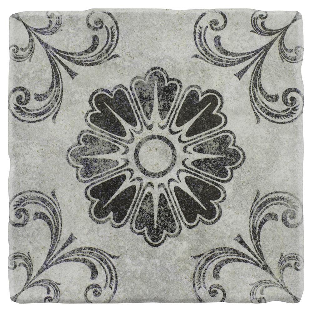 Costa Cendra Decor Fleur Encaustic 7-3/4 in. x 7-3/4 in. Ceramic Floor and Wall Tile (11.5 sq. ft. / case)