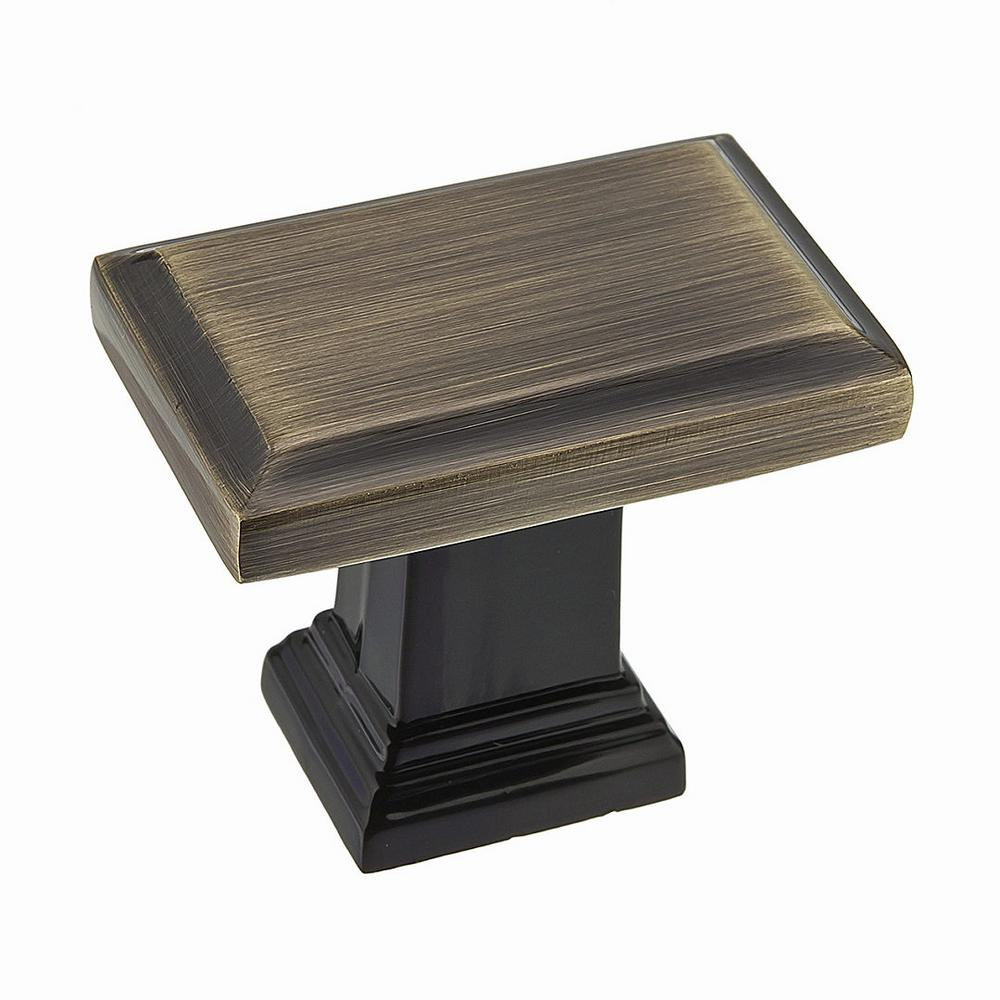 Charmant Richelieu Hardware 1 1/2 In. X 15/16 In. (38 Mm X 24 Mm) Antique English Rectangular  Cabinet Knob BP79538AE   The Home Depot
