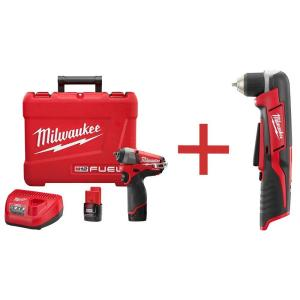 Milwaukee M12 FUEL 12-Volt Lithium-Ion Brushless Cordless 1/4 inch Impact Wrench Kit W/... by Milwaukee