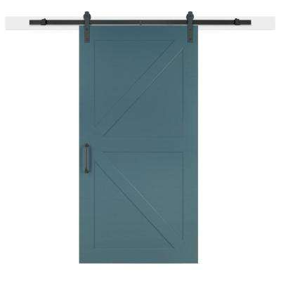 36 in. x 84 in. Pacific Composite K-Bar Solid-Core MDF Barn Door with Sliding Door Hardware Kit