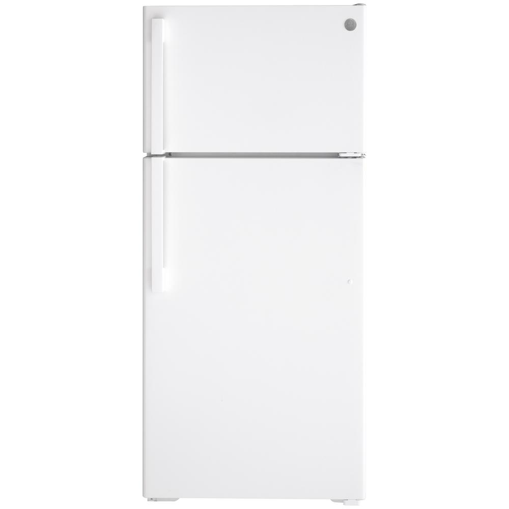 GE 16.6 cu. ft. Top Freezer Refrigerator in White