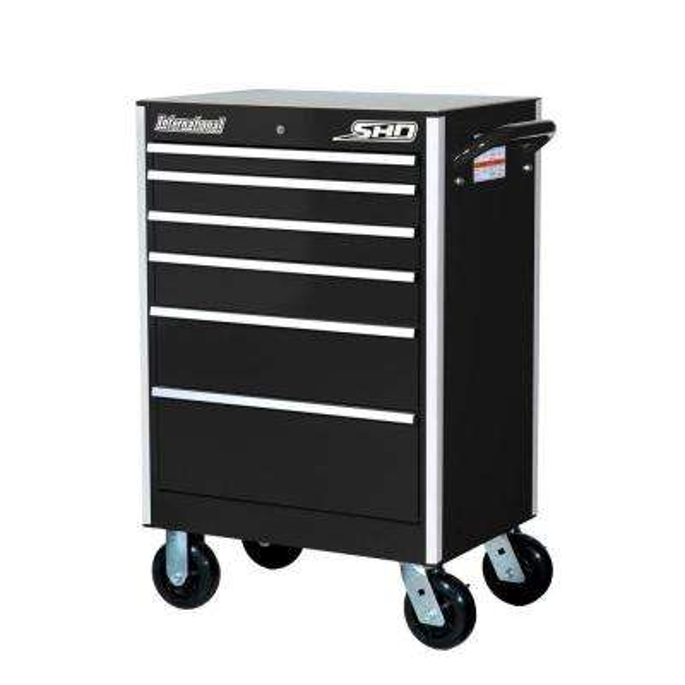 27 in. SHD Series 6-Drawer Cabinet, Black