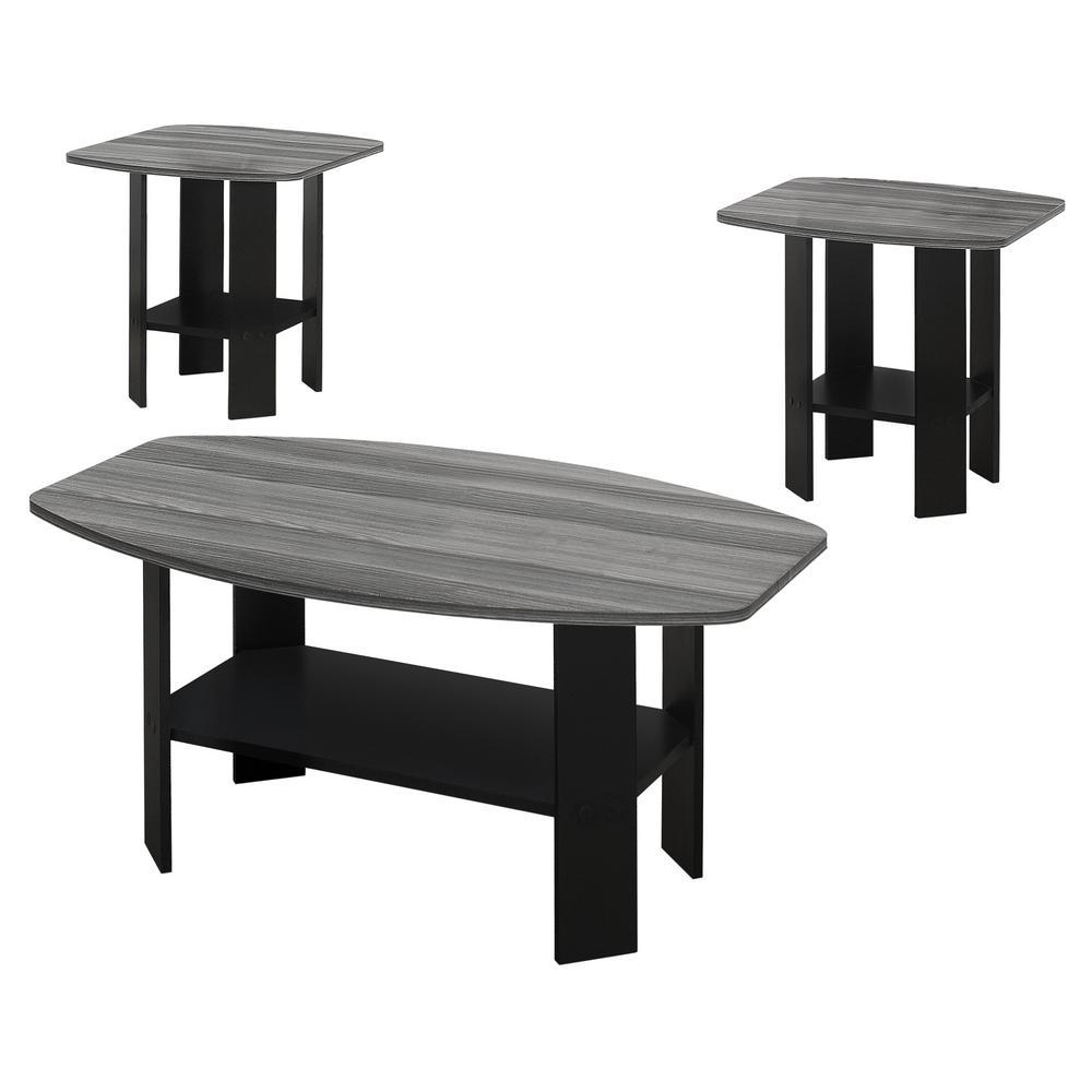 Black 3-Piece Table Set