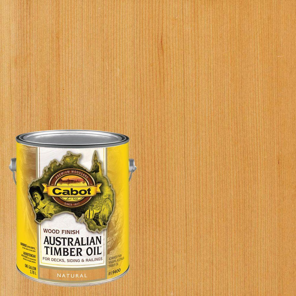 Cabot 1 Gal Natural Australian Timber Oil Exterior Wood Finish Voc Compliant