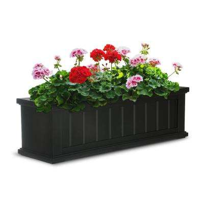 11 in. x 36 in. Black Cape Cod Window Box