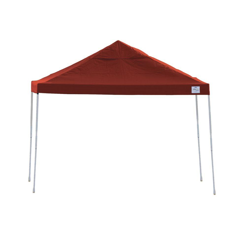 Red Straight Leg Pop-Up Canopy  sc 1 st  The Home Depot & ShelterLogic Pro Series 12 ft. x 12 ft. Red Straight Leg Pop-Up ...