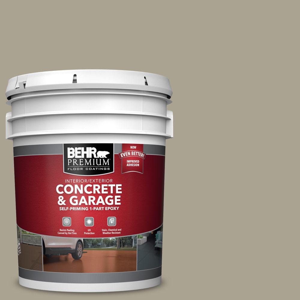 5 gal. #PFC-37 Putty Beige 1-Part Epoxy Satin Interior/Exterior Concrete and Garage Floor Paint