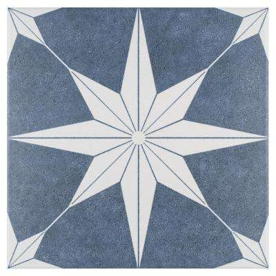 Stella Day Encaustic 9-3/4 in. x 9-3/4 in. Porcelain Floor and Wall Tile (10.76 sq. ft. / case)