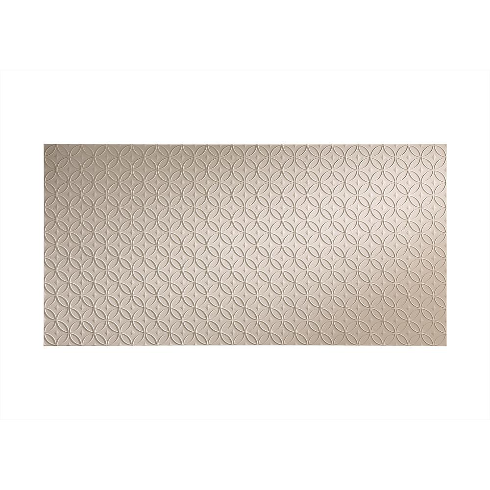 Rings 96 in. x 48 in. Decorative Wall Panel in Almond