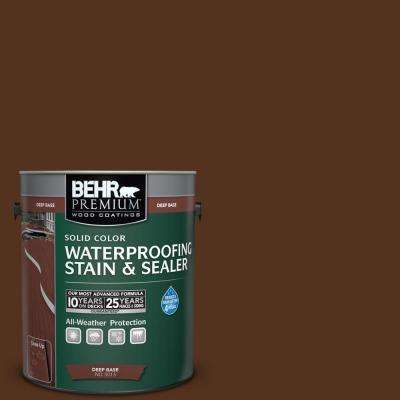 1 gal. #SC-123 Valise Solid Color Waterproofing Exterior Wood Stain and Sealer