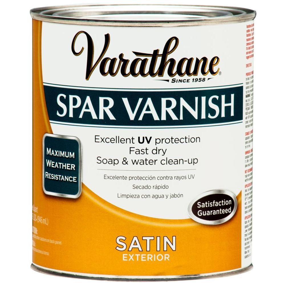 Varathane 1 Qt Clear Satin Water Based Exterior Spar