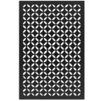 Morrish Circle 32 in. x 4 ft. Black Vinyl Decorative Screen Panel