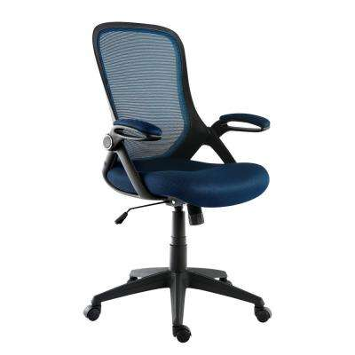 Sadia Mesh Black and Blue Office Chair