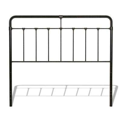 Fairfield Dark Roast King Metal Headboard with Spindles and Castings