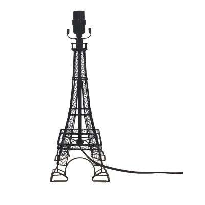 Mix & Match 18.5 in. Black Eiffel Tower Table Lamp Base
