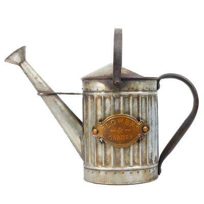 11 in. Tall Vintage Style Metal Watering Can