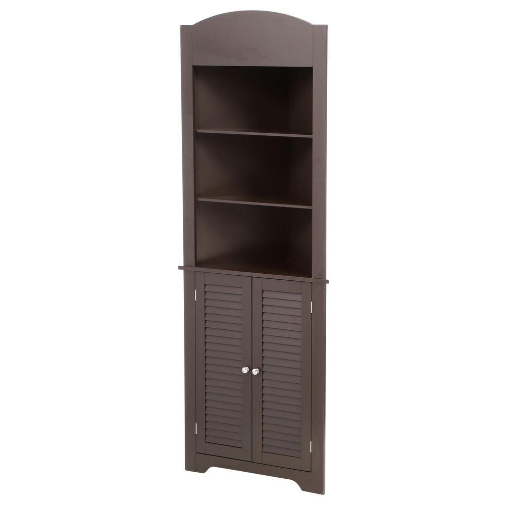 Magnificent Riverridge Home Ellsworth 23 1 4 In W X 68 3 10 In H X 11 1 2 D Corner Bathroom Linen Storage Tower Cabinet In Espresso Home Interior And Landscaping Mentranervesignezvosmurscom