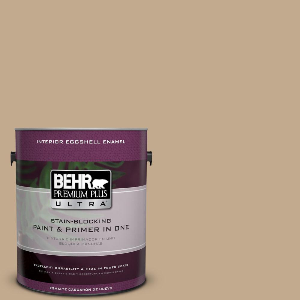 BEHR Premium Plus Ultra 1-gal. #BXC-07 Palomino Tan Eggshell Enamel Interior Paint