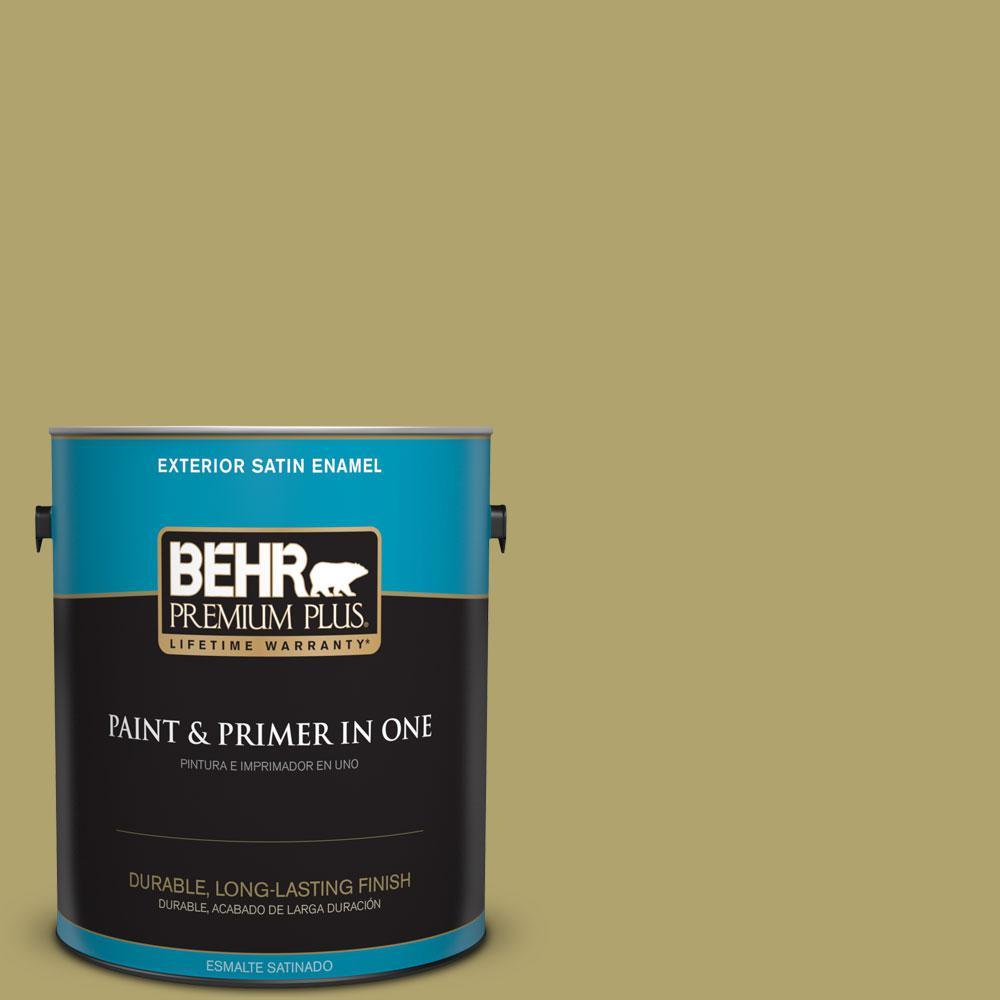 1 gal. #HDC-WR15-10 Green Bean Casserole Satin Enamel Exterior Paint