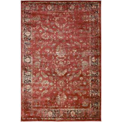 Kaitlyn Rust 8 ft. x 11 ft. Indoor Area Rug