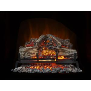 wolf steel 24 in electric log set with remote control nefi24h the rh homedepot com electric fireplace logs with heat and sound