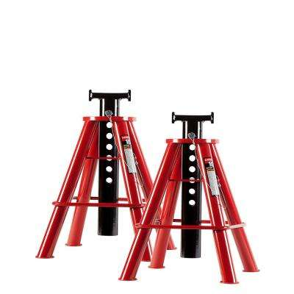 10-Ton Medium Height Pin Type Jack Stands (Pair)