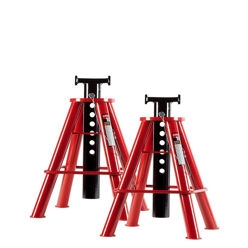 Sunex 10-Ton Medium Height Pin Type Jack Stands (Pair) by Sunex