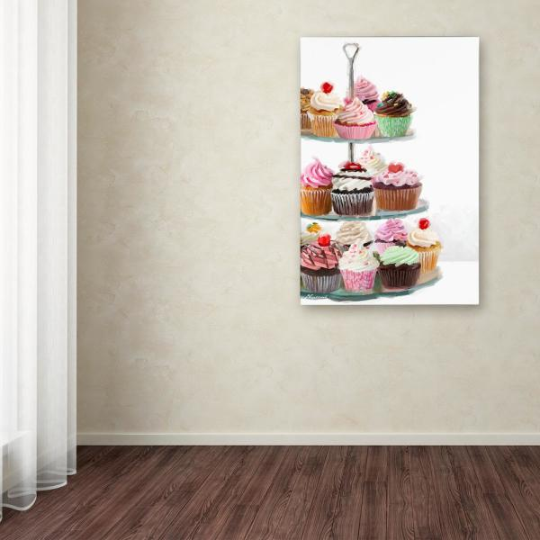 Trademark Fine Art 24 in. x 16 in. ''Cup Cakes'' by