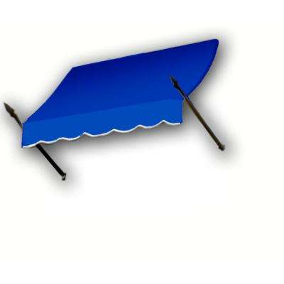 18 ft. New Orleans Awning (44 in. H x 24 in. D) in Bright Blue