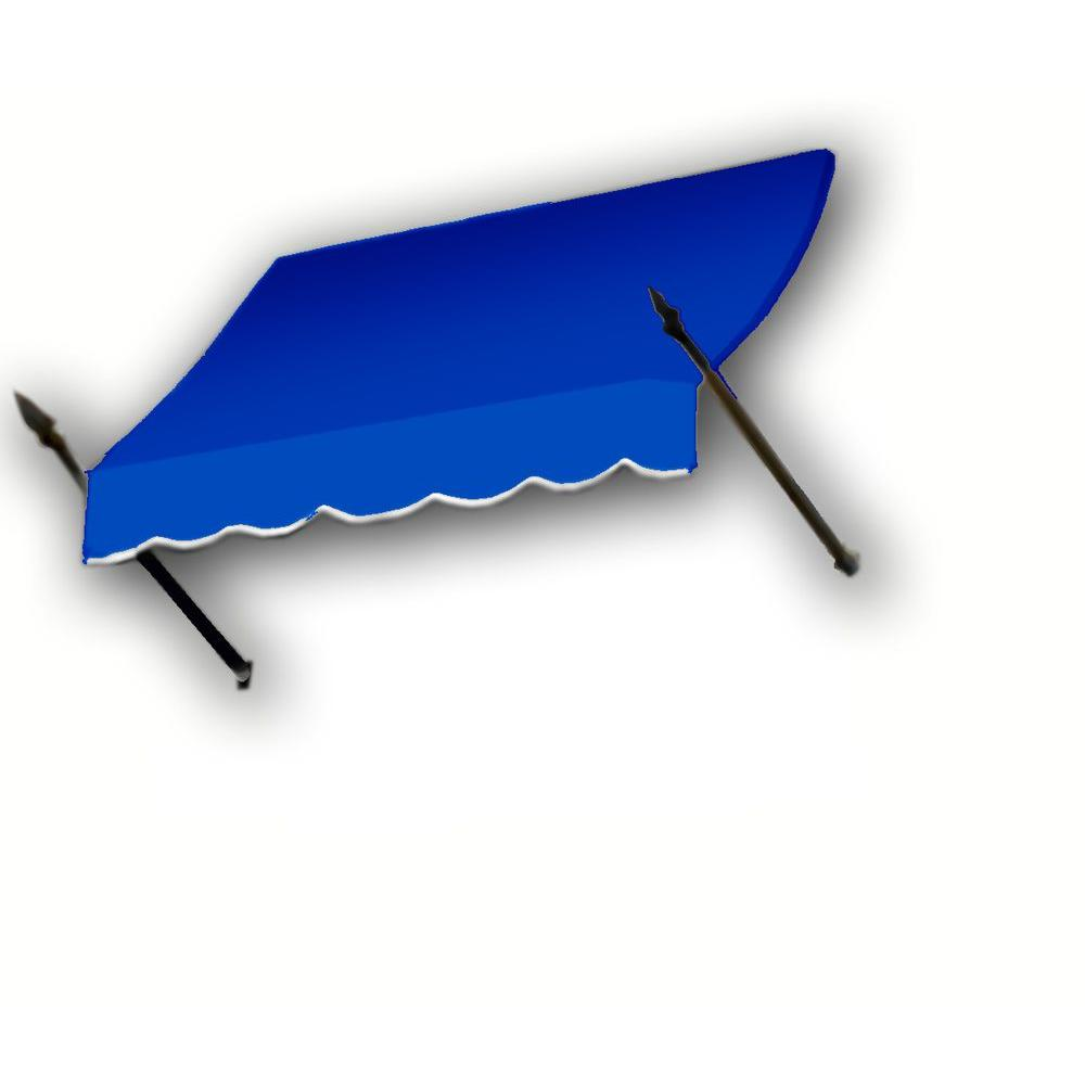 AWNTECH 4 ft. New Orleans Awning (56 in. H x 32 in. D) in Bright Blue