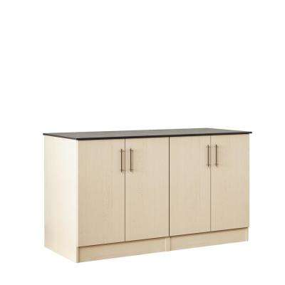 Miami 59.5 in. Outdoor Cabinets with Countertop 4 Full Height Doors in Sand