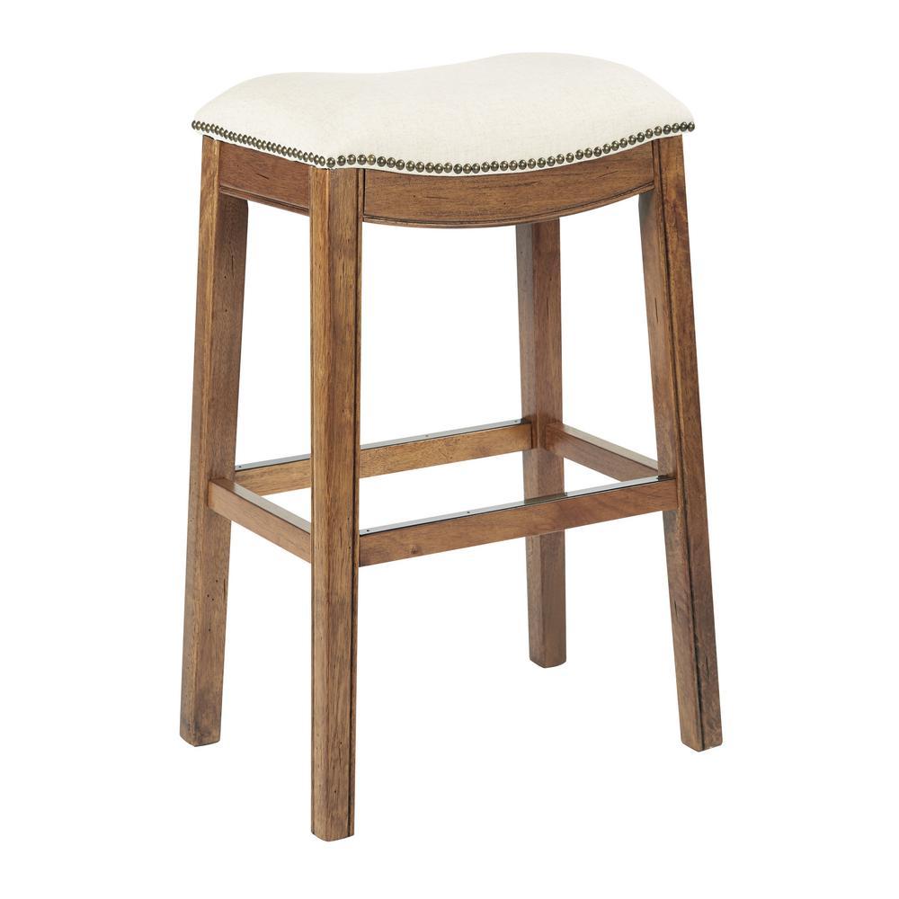 Austin 31.25 in Linen Bar stool