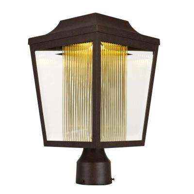 Villa 9 in. Wide 1-Light Outdoor Adobe Post Light