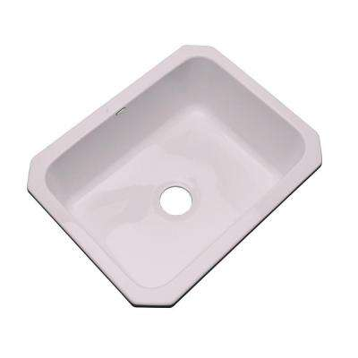 Inverness Undermount Acrylic 25 in. Single Bowl Kitchen Sink in Innocent Blush