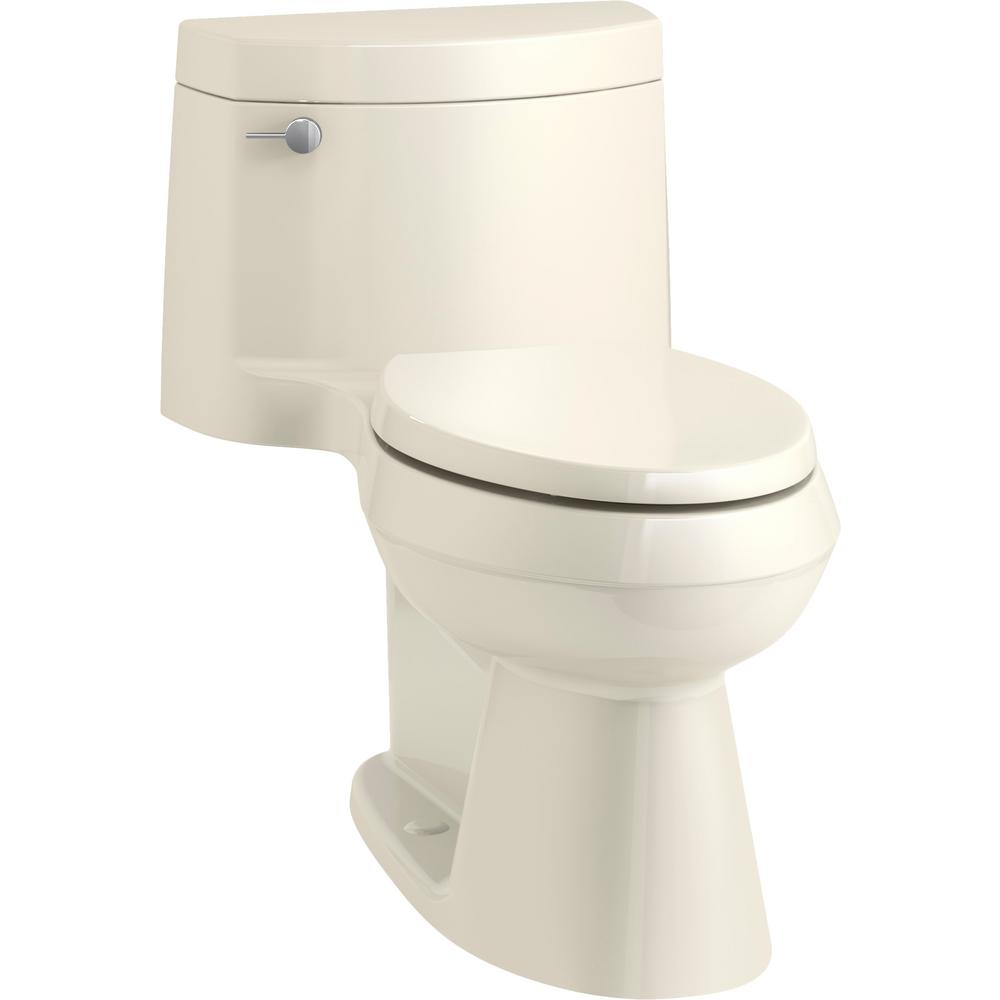 KOHLER Cimarron 1-piece 1.28 GPF Single Flush Elongated Toilet in Almond