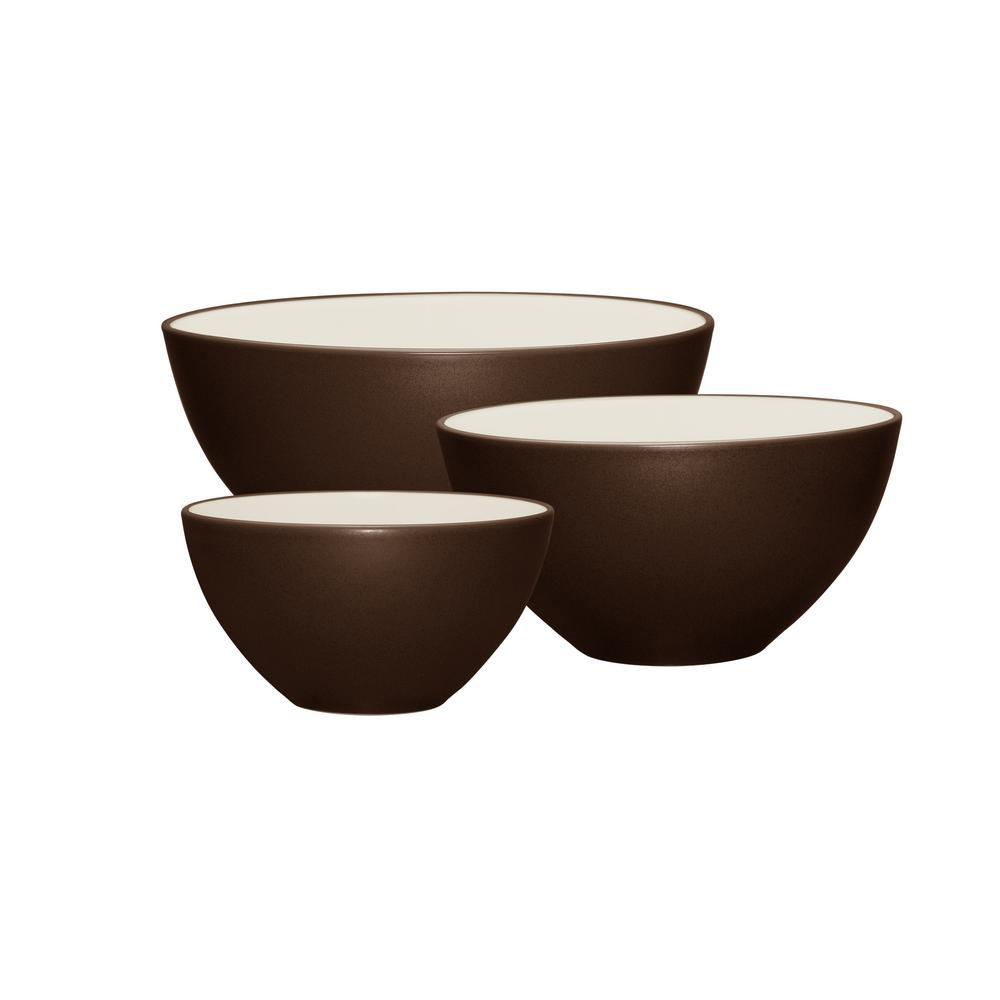 Colorwave 3-Piece Chocolate Bowl Set