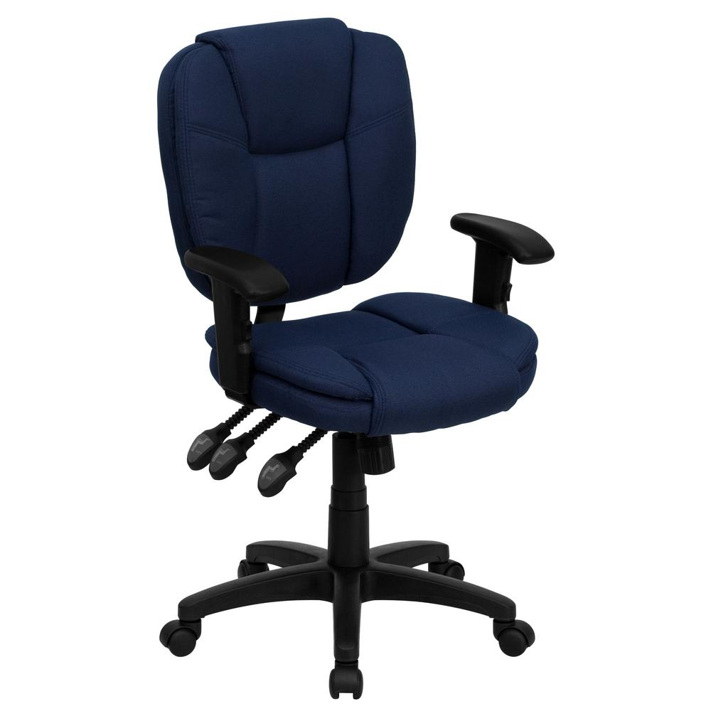 Flash Furniture Mid Back Navy Blue Fabric Multi Functional