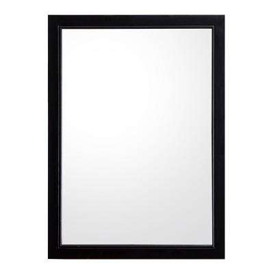 Brattleby 23 in. W x 31 in. H Single Wall Hung Mirror in Espresso