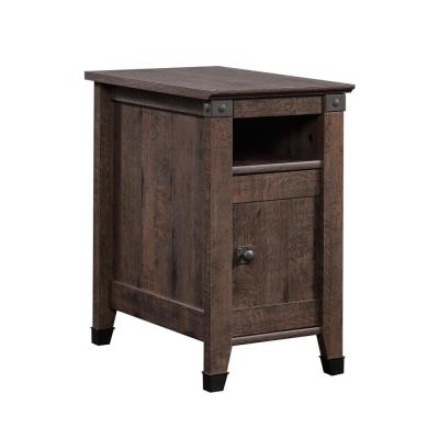 Carson Forge Coffee Oak Storage Side Table