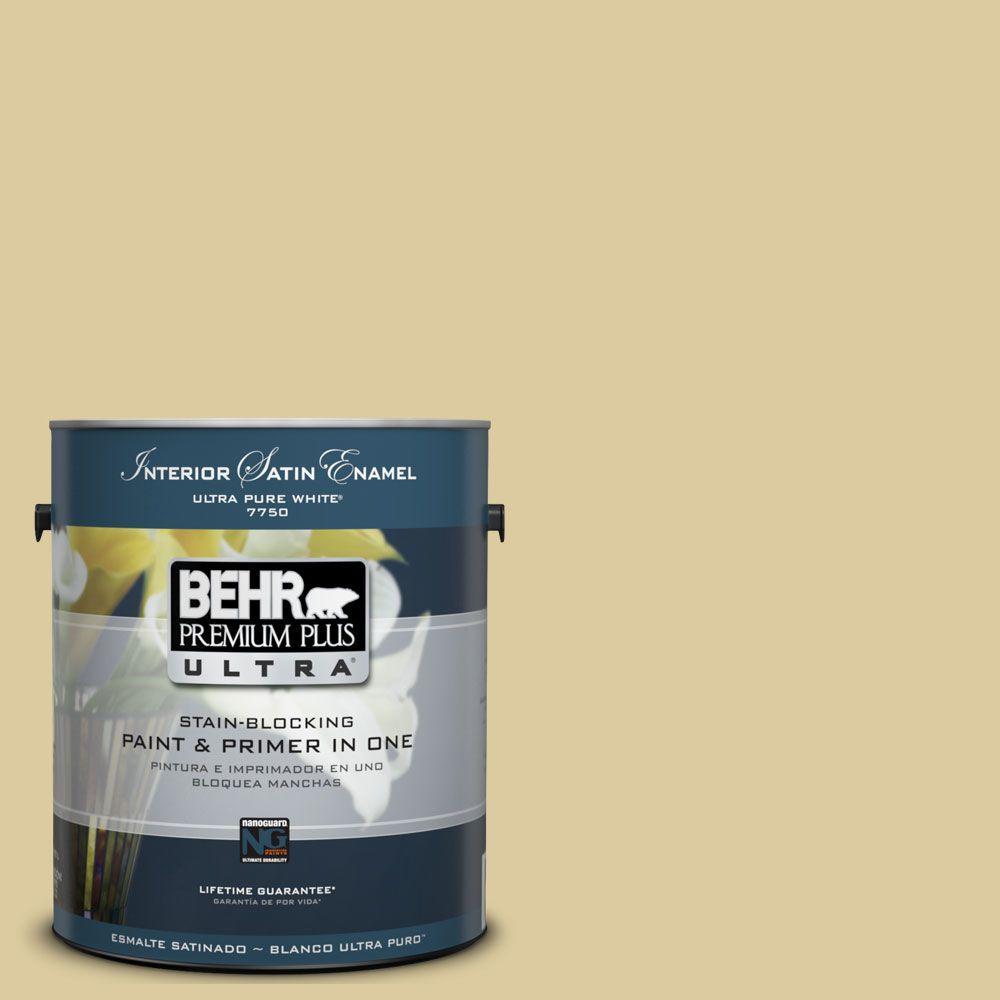 BEHR Premium Plus Ultra 1-Gal. #UL180-10 Mojito Interior Satin Enamel Paint