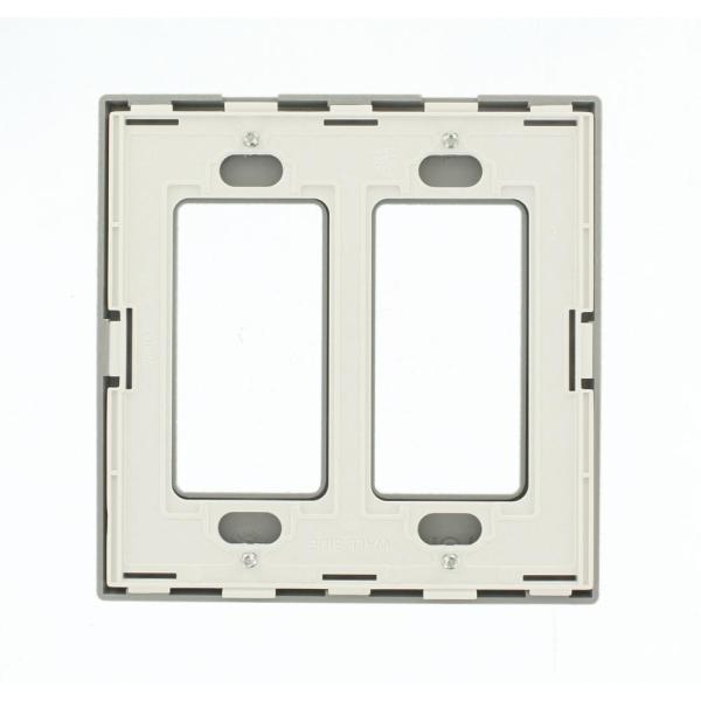 Inc joug Screwless Blanc plaque unique Varilight 2-Gang Powergrid plaque
