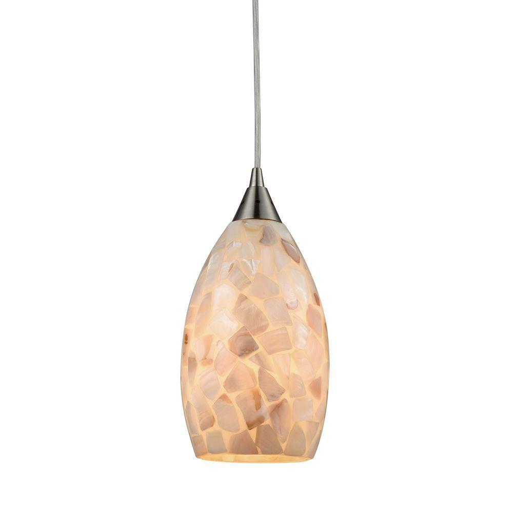 Titan lighting capri 1 light satin nickel and capiz shell pendant tn titan lighting capri 1 light satin nickel and capiz shell pendant aloadofball Choice Image