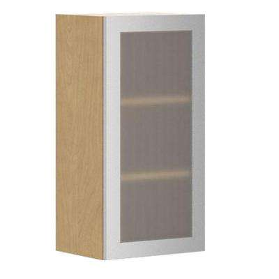 Nice Copenhagen Wall Cabinet In Maple Melamine And Glass