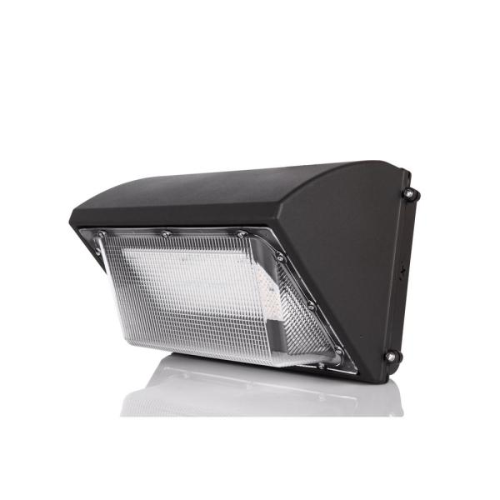 300-Watt Equivalent Integrated LED Black Outdoor IP65 Waterproof Wall Pack Light 5000K