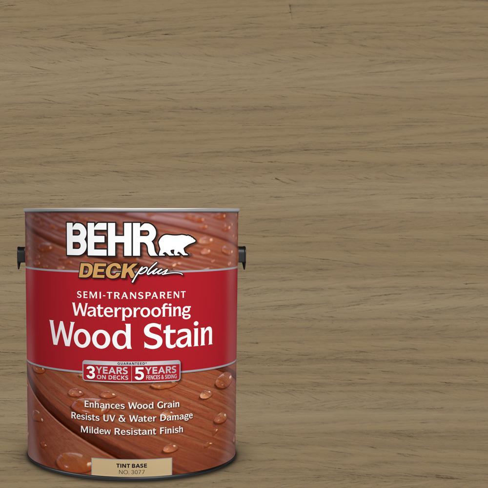 1 gal. #ST-121 Sandal Semi-Transparent Waterproofing Wood Stain