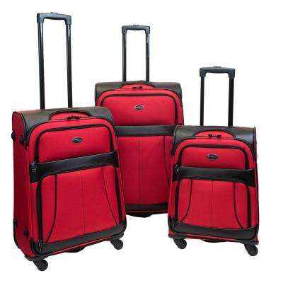 Odyssey 3-Piece Red Flame Luggage Set