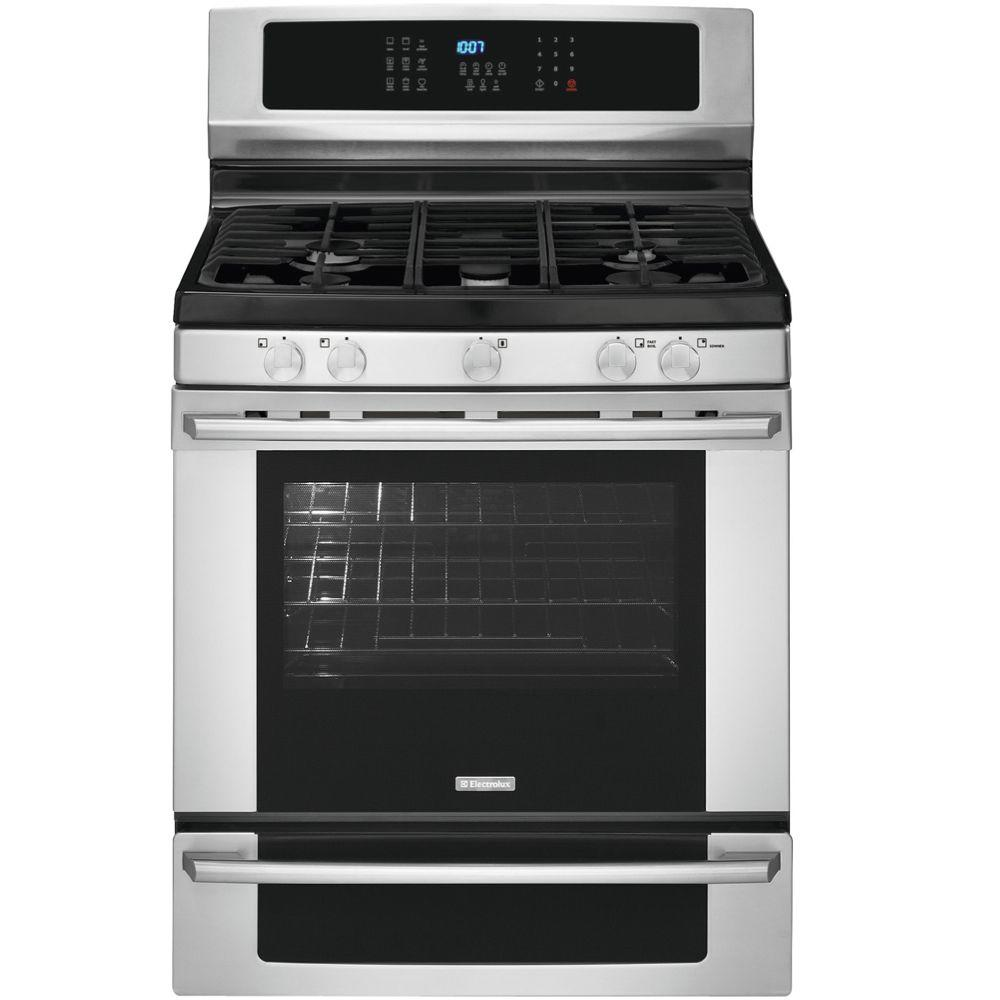Electrolux IQ-Touch 5.0 cu. ft. Gas Range with Self-Cleaning Convection Oven in Stainless Steel
