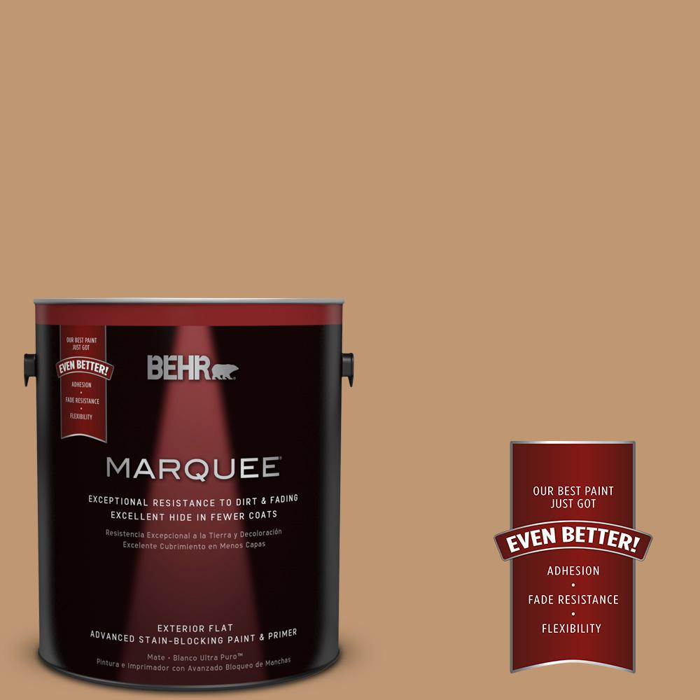 1-gal. #270F-5 Wilmington Tan Flat Exterior Paint